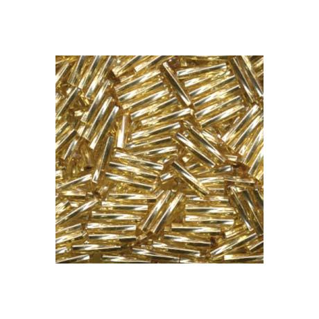 Miyuki szalmagyöngy 12 mm TW2712-3  Ezüst közepű arany  5 g