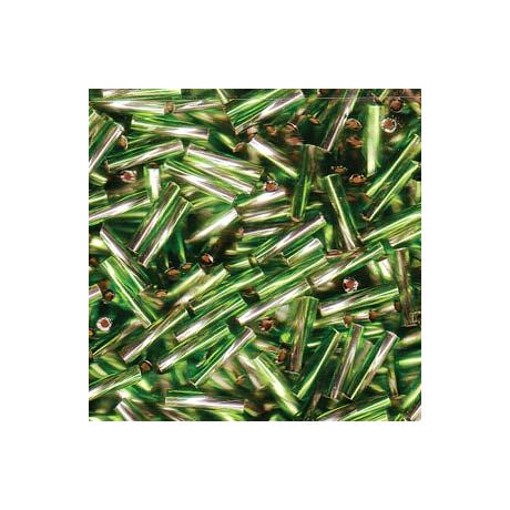 Miyuki szalmagyöngy 12 mm TW2712-3941  Ezüst közepű kristály/olive zöld  5 g