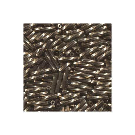 Miyuki szalmagyöngy 12 mm TW2712-457  Metál sötét bronz  5 g