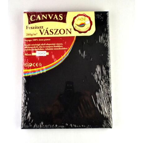 Feszített vászon fekete (keret 1,6*2,0 cm), 18*24 cm
