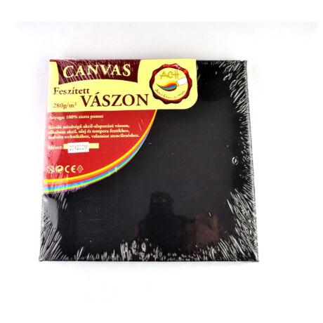 Feszített vászon fekete (keret 1,6*2,0 cm), 20*20 cm