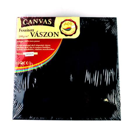 Feszített vászon fekete (keret 1,6*2,0 cm), 24*24 cm