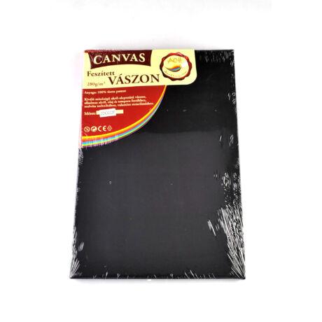 Feszített vászon fekete (keret 1,6*2,0 cm), 20*30 cm