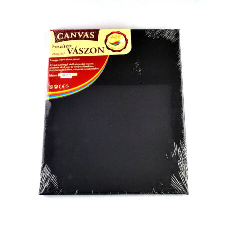 Feszített vászon fekete (keret 1,6*2,0 cm), 24*30 cm