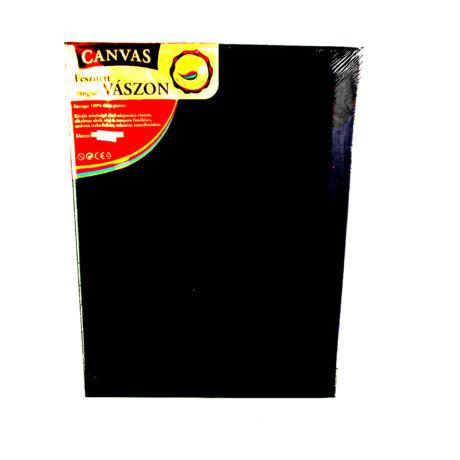Feszített vászon fekete (keret 1,6*2,0 cm), 30*40 cm
