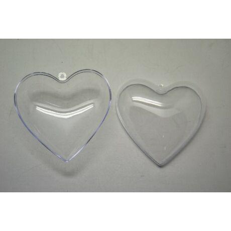 Akril szív, 8 cm szétnyitható
