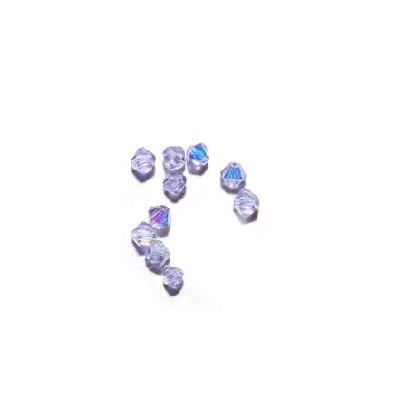 Csiszolt kúpos gyöngy AB 4 mm, világoskék 100 db/cs