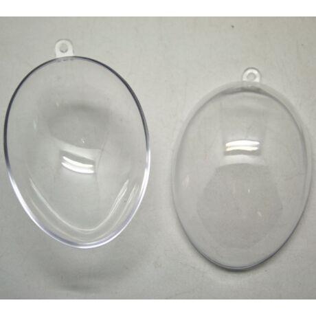 Szétnyitható akril tojás, 8*5,7 cm