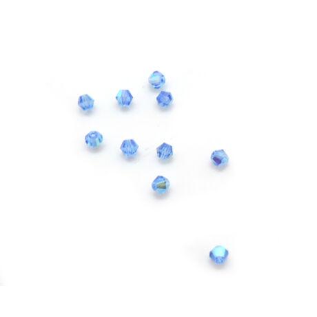 Csiszolt kúpos gyöngy AB 4 mm, kék 100 db/cs