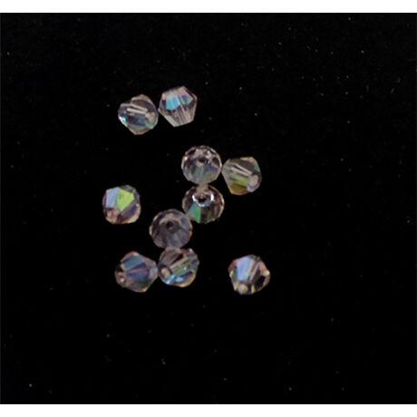 Csiszolt kúpos gyöngy AB 4 mm, rózsaszín 100 db/cs