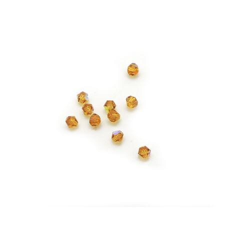 Csiszolt kúpos gyöngy AB 4 mm, topáz 100 db/cs