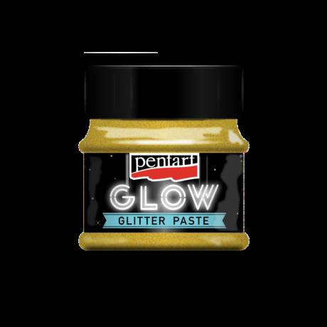 Pentart Sötétben világító glitterpaszta, arany, 50 ml