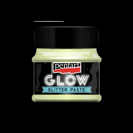 Pentart Sötétben világító glitterpaszta, szivárvány kék, 50 ml