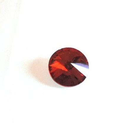 Üvegkristály, sötétpiros parabola, 14 mm, 10 db