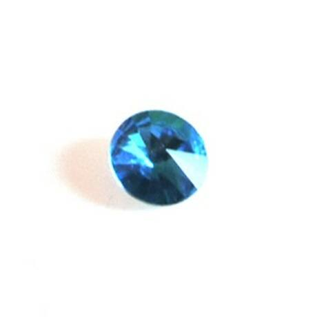 Üvegkristály, világoskék parabola, 16 mm, 10 db